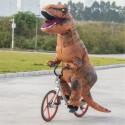 T-Rex nafukovací kostým pro dospělé