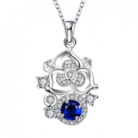 Elegantní Dámská náhrdelník Flower Crystal