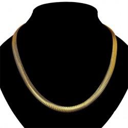 Elegantní Dámská náhrdelník Flat Snake