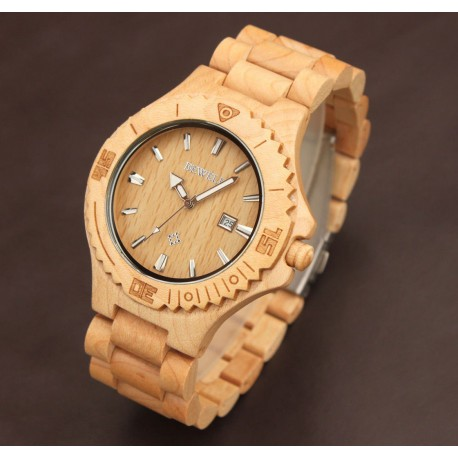 Dřevěné náramkové hodinky Brect